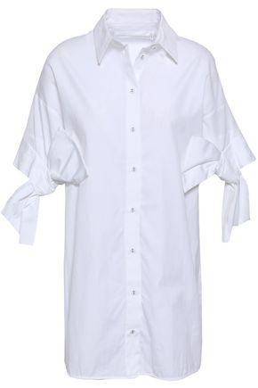 VICTORIA, VICTORIA BECKHAM Bow-detailed cotton-poplin shirt