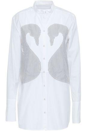 VICTORIA, VICTORIA BECKHAM Striped cotton-poplin shirt