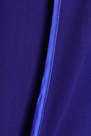 VICTORIA, VICTORIA BECKHAM Satin-trimmed crepe top
