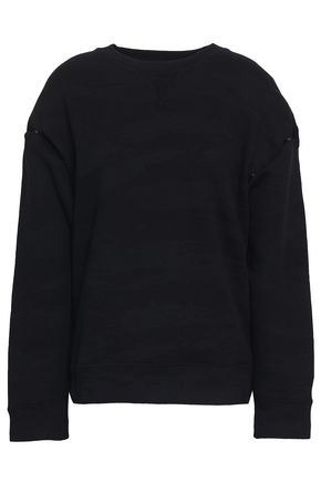 IRO Newla convertible French cotton-terry sweatshirt