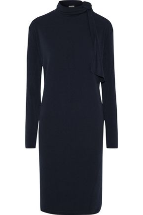BY MALENE BIRGER Gulia tie-neck stretch-crepe dress