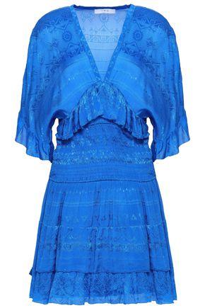 IRO Ruffled jacquard mini dress