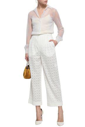 MISSONI Metallic crochet-knit shirt