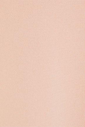 VICTORIA, VICTORIA BECKHAM Tie-detailed crepe mini dress