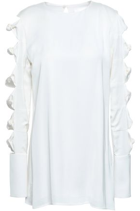VICTORIA, VICTORIA BECKHAM Cutout knotted cady top