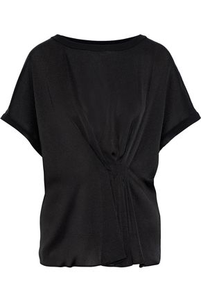 BY MALENE BIRGER Linaramma pleated satin-crepe top