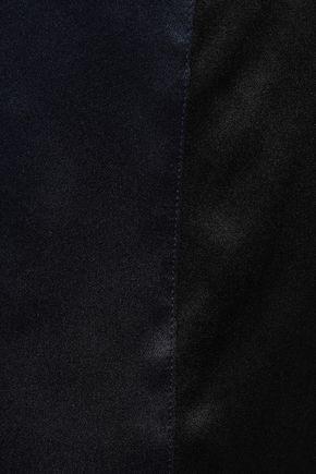 VICTORIA, VICTORIA BECKHAM Two-tone silk satin-paneled crepe de chine top