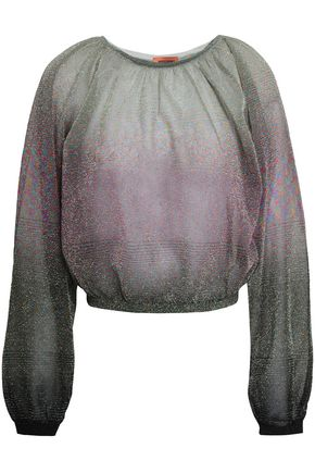 MISSONI Dégradé metallic crochet-knit top