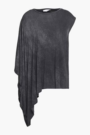 IRO Asymmetric draped stretch-jersey top