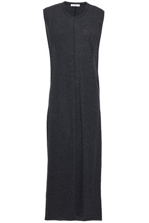 IRO Jiper mélange cotton-blend jersey midi dress