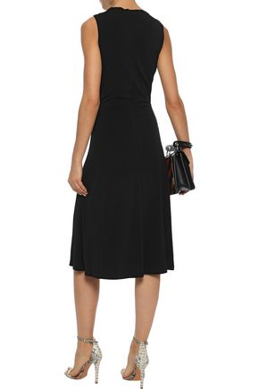 BY MALENE BIRGER Damilla twist-front stretch-crepe midi dress