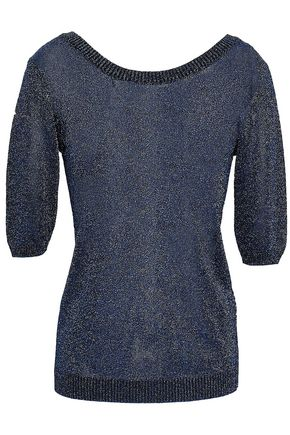 MISSONI Metallic stretch-knit top