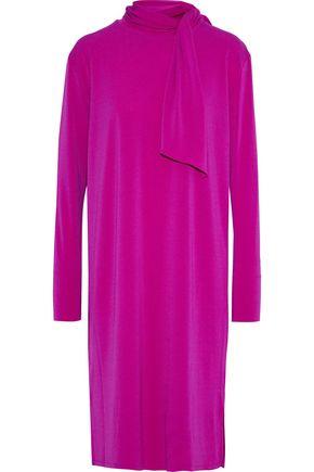 BY MALENE BIRGER Gulia tie-neck stretch-crepe dress