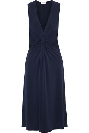 BY MALENE BIRGER Damilla twisted stretch-crepe midi dress