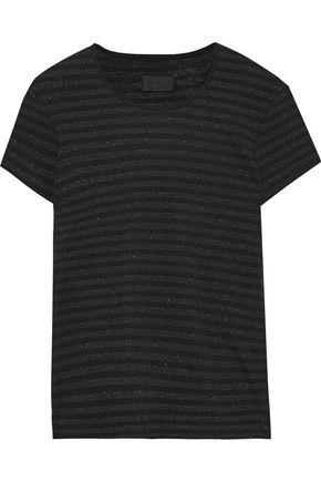 RTA Dawn metallic striped cotton and cashmere-blend T-shirt