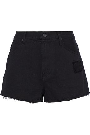 RTA Ace distressed denim shorts