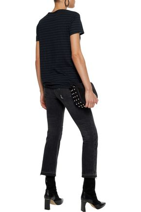 RTA Metallic striped cotton and cashmere-blend T-shirt
