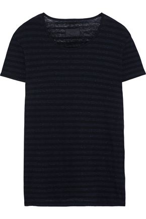 RTA Metallic striped cotton and cashmere-blend T-shirt