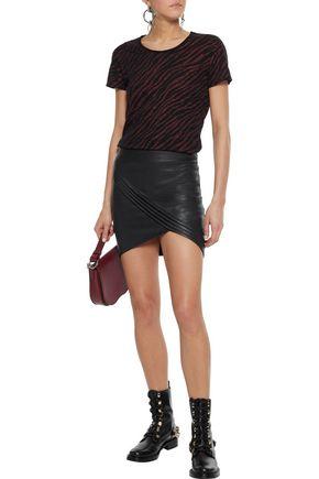 RTA Metallic zebra-print cotton and cashmere-blend T-shirt