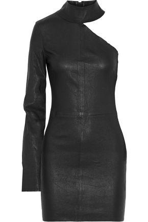 RTA Lulu one-shoulder stretch-leather mini dress