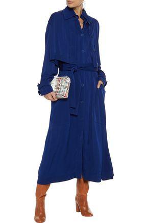 STELLA McCARTNEY Layered shirred satin-crepe midi dress
