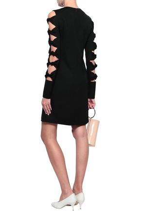 VICTORIA, VICTORIA BECKHAM Cutout knotted cady mini dress