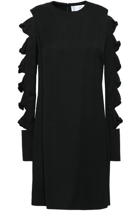 VICTORIA, VICTORIA BECKHAM Cutout knotted cady mini dress