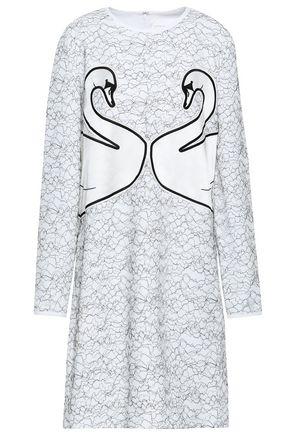 VICTORIA, VICTORIA BECKHAM Appliquéd corded lace dress
