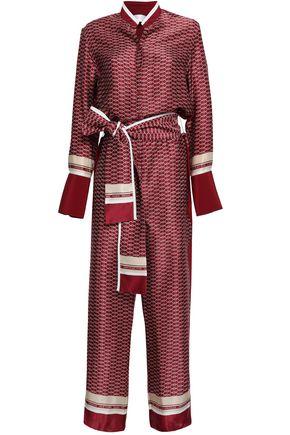 VICTORIA, VICTORIA BECKHAM Printed silk-satin jumpsuit