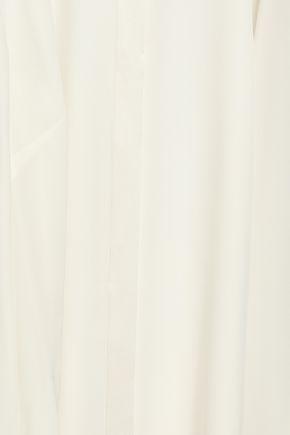 ELIE TAHARI Silk crepe-satin blouse