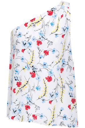 EQUIPMENT Lucina one-shoulder floral-print washed-silk top