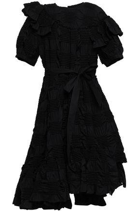 SIMONE ROCHA Ruffled smock-trimmed cotton midi dress