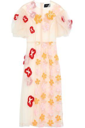 SIMONE ROCHA Frayed embellished tulle midi dress