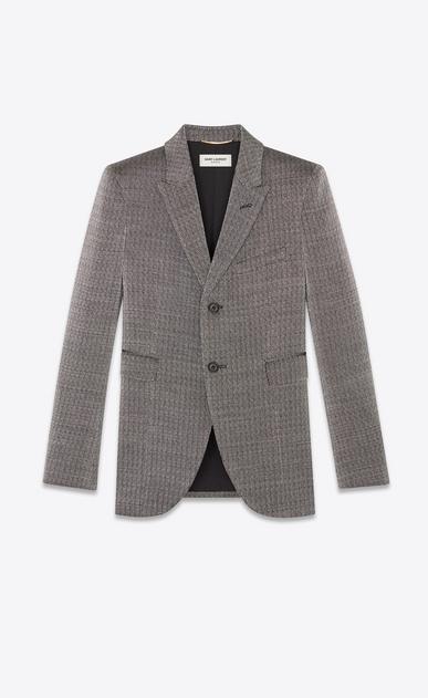 Blazer in a rustic lamé knit