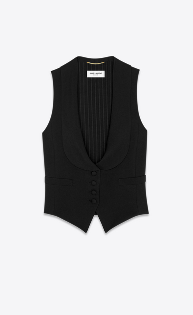 Saint Laurent gabardine vest