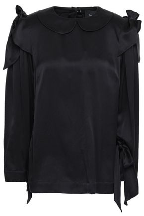 SIMONE ROCHA Bow-embellished silk blouse