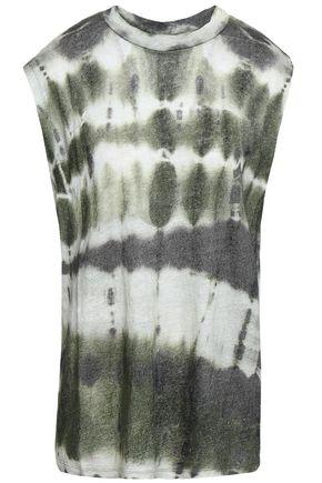 IRO Tie-dyed slub linen-jersey tank