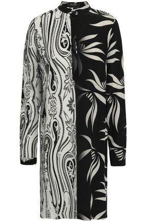 ETRO Printed silk crepe de chine shirt dress