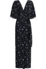 NICHOLAS Wrap-effect cutout floral-print silk-georgette jumpsuit