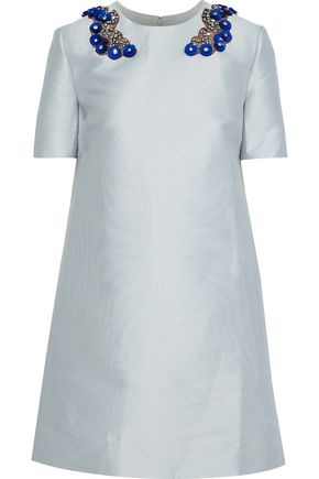 STELLA McCARTNEY Embellished duchesse-satin mini dress
