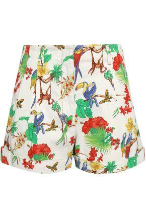 ETRO Printed denim shorts