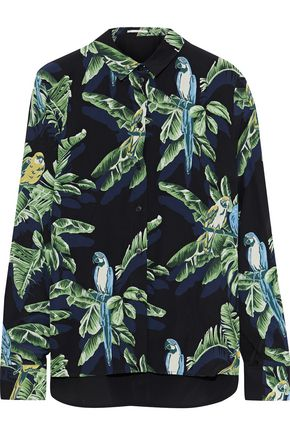 STELLA McCARTNEY Wilson printed silk crepe de chine shirt