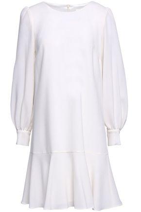 GOAT Fluted wool-crepe mini dress