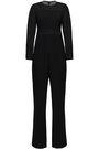 GOAT Paneled chiffon and cady jumpsuit