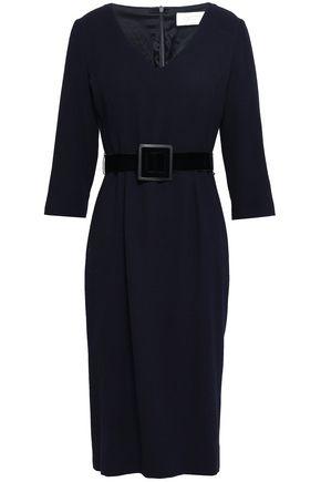 GOAT Belted wool-crepe dress