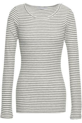 KAIN Striped ribbed-knit shirt