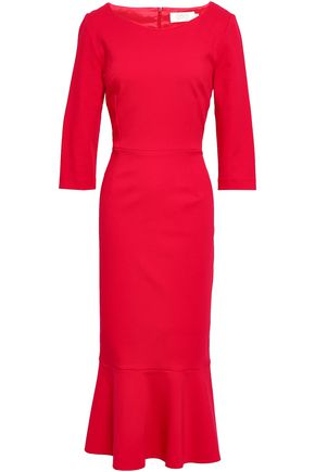 GOAT Glory fluted stretch-knit midi dress