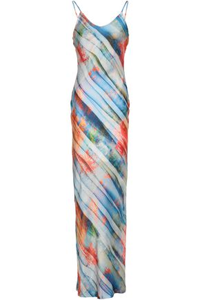 KAIN Printed satin maxi dress