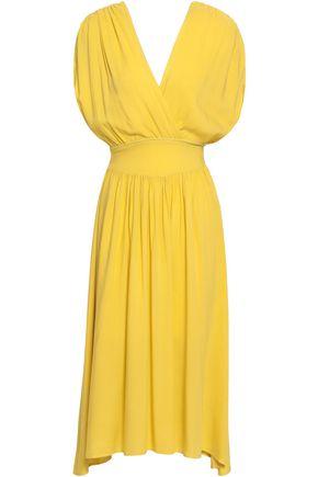 KAIN Wrap-effect tie-dyed woven midi dress