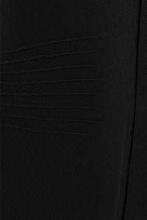 ALEXANDER WANG Mesh-paneled ponte mini dress